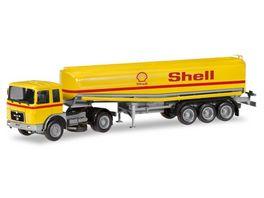 Herpa 309271 MAN F8 Benzintank Sattelzug Shell 1 87
