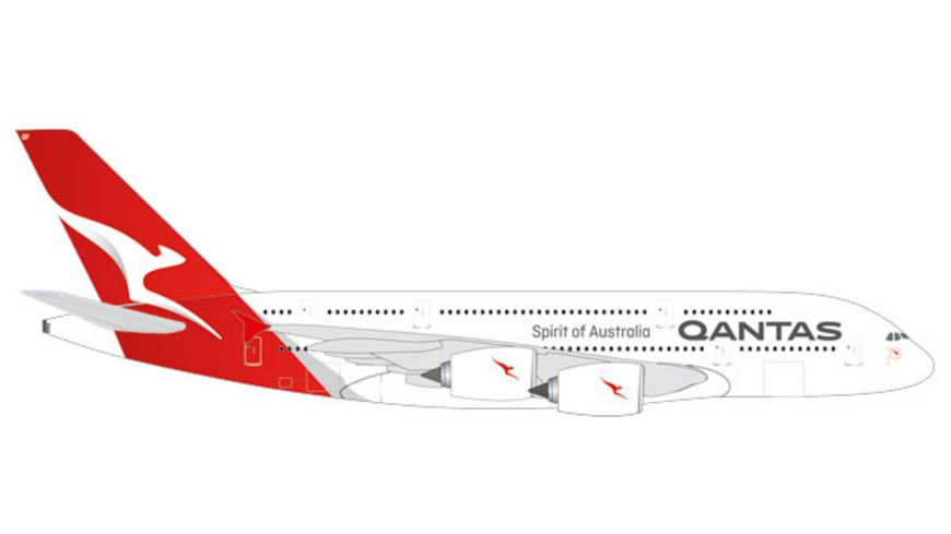Herpa 531795 Qantas Airbus A380 new colors 1 500