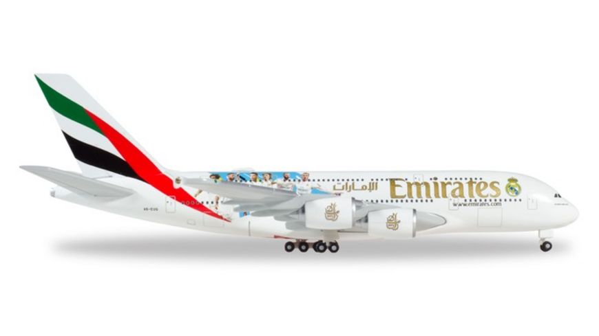 Herpa 531931 Emirates Airbus A380 Real Madrid 2018 1 500