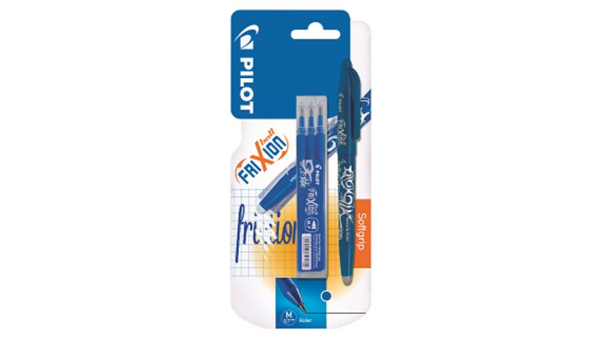 PILOT Tintenroller Frixion Ball radierbar + 3 Minen blau