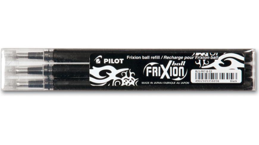 PILOT Tintenroller Frixion Ball radierbar 3 Minen schwarz