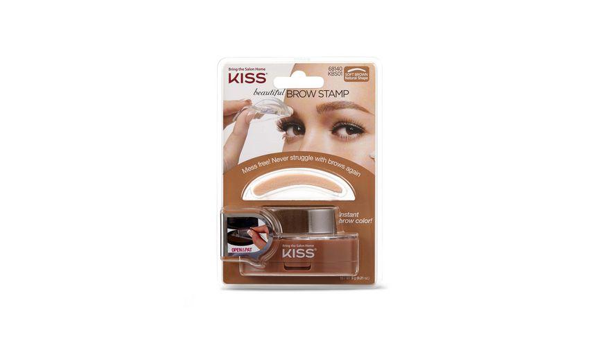 KISS Augenbrauenstempel dunkelbraun
