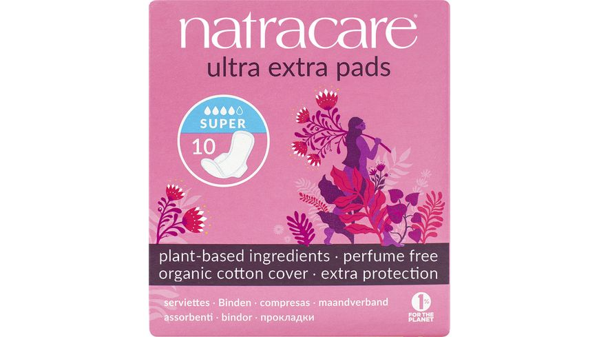 natracare Damenbinden Ultra Extra Super 10 Stueck