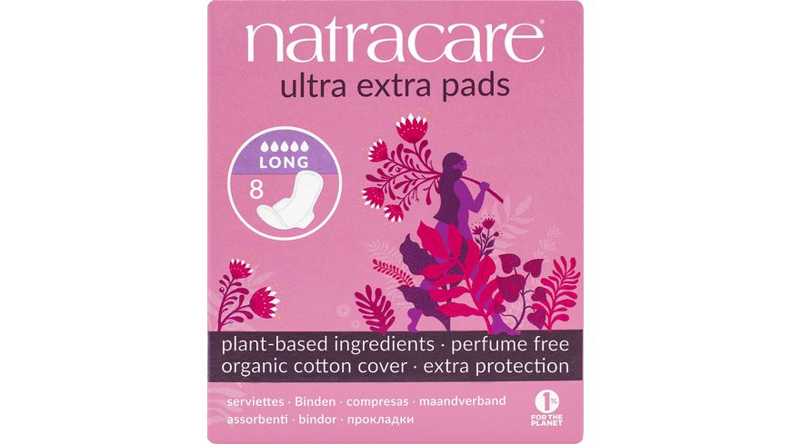 natracare Damenbinden Ultra Extra Long 8 Stueck