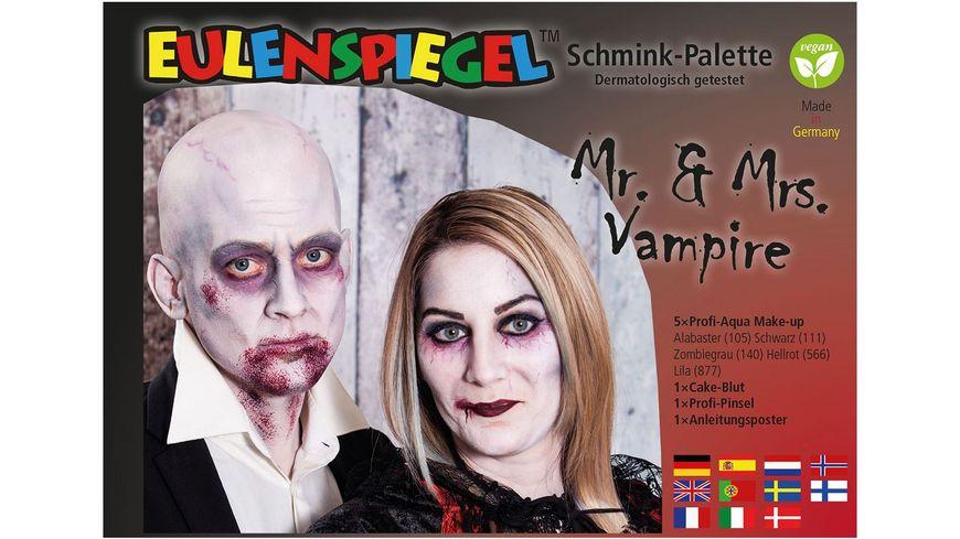 Eulenspiegel 206355 Mr Mrs Vampire Schminkpalette mit Anleitung
