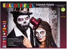 Eulenspiegel 206379 Voodoo Paerchen Schminkpalette mit Anleitung