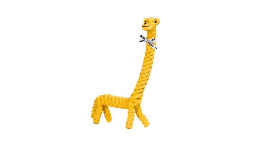 LABONI GRETA GIRAFFE robustes Tierspielzeug aus zahnpflegendem Baumwolltau