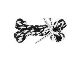 LABONI BONNIE BONE robustes Tierspielzeug aus zahnpflegendem Baumwolltau schwarz