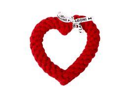 LABONI HERTHA HEART robustes Tierspielzeug aus zahnpflegendem Baumwolltau