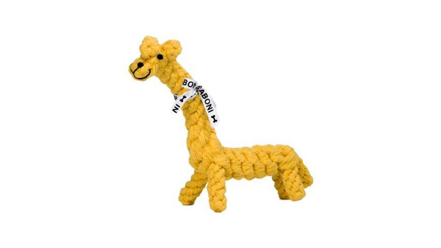 LABONI GRETCHEN GIRAFFE robustes Tierspielzeug aus zahnpflegendem Baumwolltau