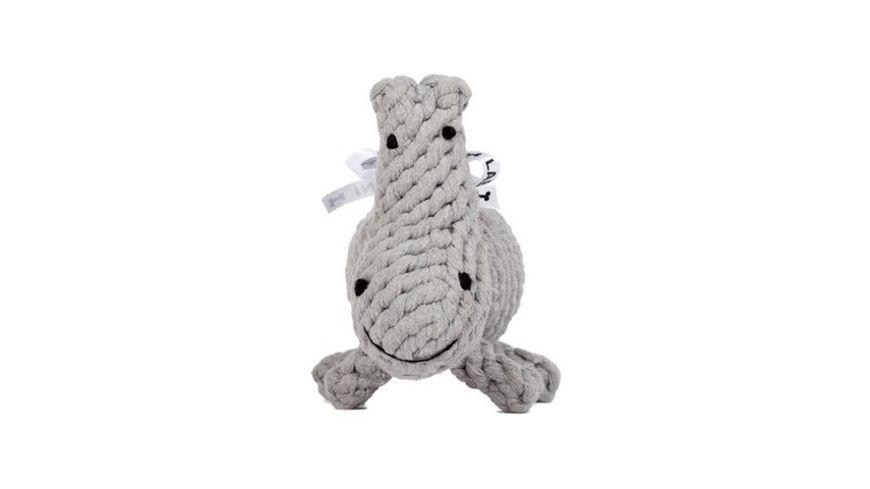 LABONI NINA NILPFERD robustes Tierspielzeug aus zahnpflegendem Baumwolltau