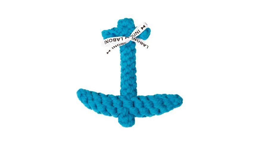 LABONI ANGELA ANKER robustes Tierspielzeug aus zahnpflegendem Baumwolltau
