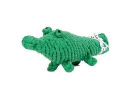 LABONI KALLI KROKODIL robustes Tierspielzeug aus zahnpflegendem Baumwolltau