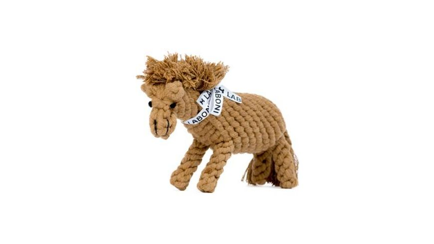 LABONI FRANZ PFERDINAND robustes Tierspielzeug aus zahnpflegendem Baumwolltau