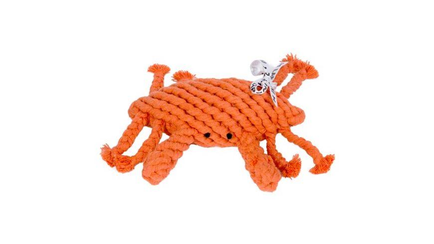 LABONI KRISTOF KRABBE robustes Tierspielzeug aus zahnpflegendem Baumwolltau