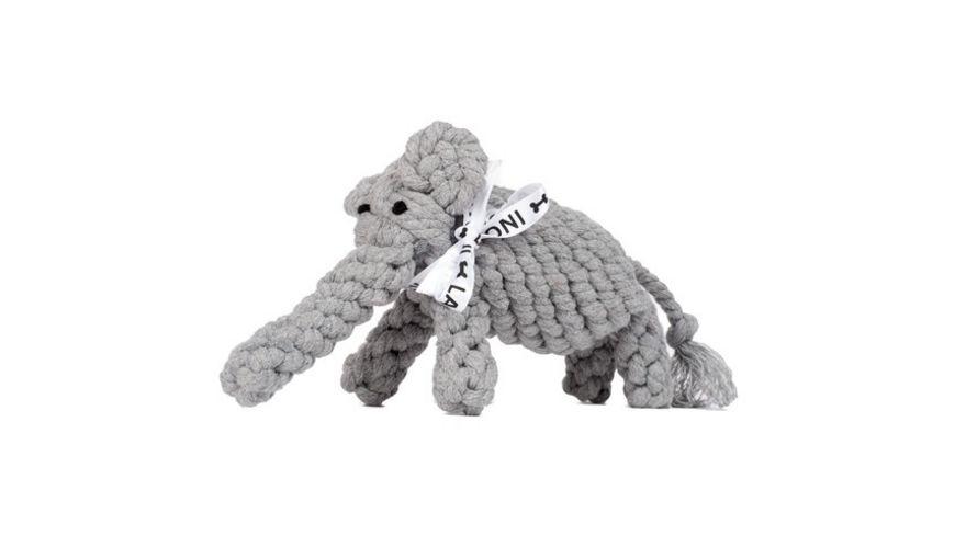 LABONI ELTON ELEFANT JR robustes Tierspielzeug aus zahnpflegendem Baumwolltau