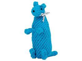 LABONI KURT KAeNGURU robustes Tierspielzeug aus zahnpflegendem Baumwolltau
