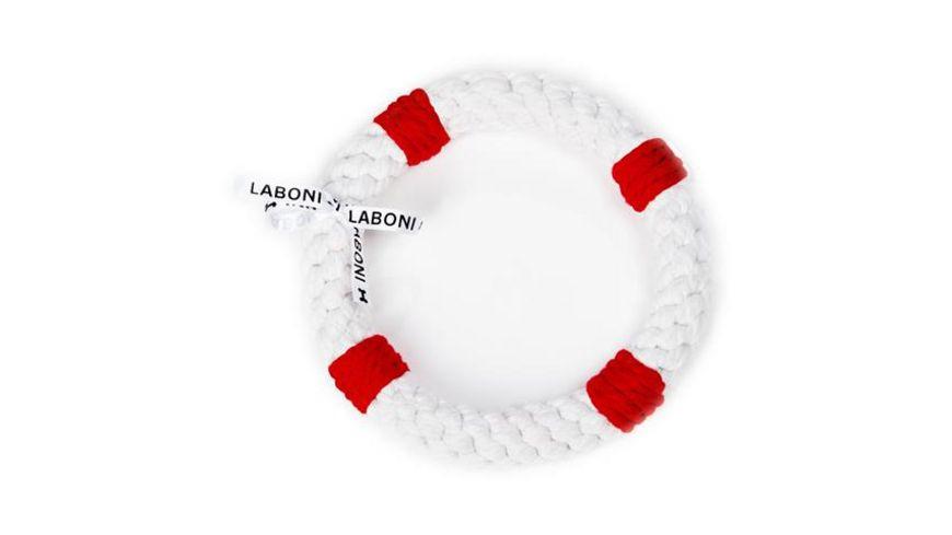 LABONI RITA RETTUNGSRING robustes Tierspielzeug aus zahnpflegendem Baumwolltau