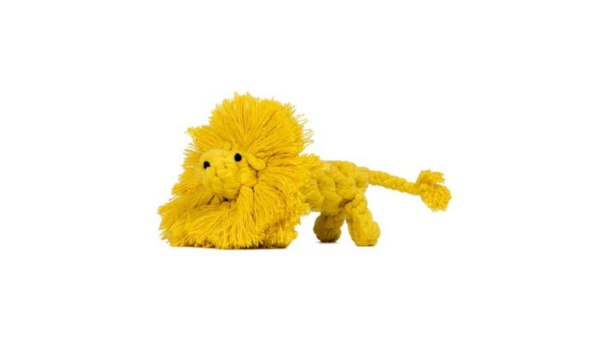 LABONI LEO LOEWE robustes Tierspielzeug aus zahnpflegendem Baumwolltau