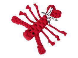 LABONI HUGO HUMMER JR robustes Tierspielzeug aus zahnpflegendem Baumwolltau