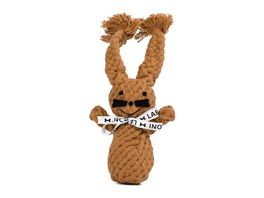 LABONI HEINRICH HASE robustes Tierspielzeug aus zahnpflegendem Baumwolltau