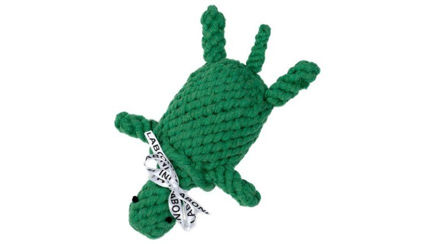 LABONI TINA TURTLE robustes Tierspielzeug aus zahnpflegendem Baumwolltau