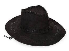Fries 38938 Cowboyhut Wildlederoptik schwarz Gr 58 cm