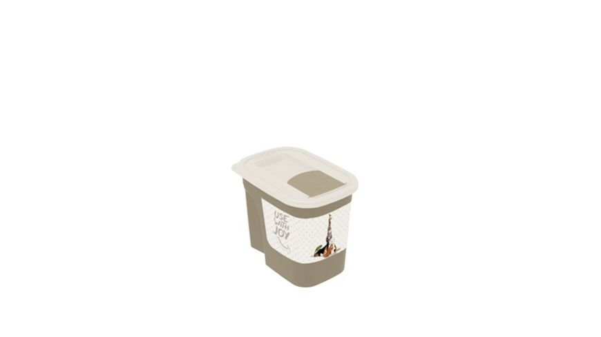 rotho FLO Tierfutterdose 2 2 l Pets with joy Cappuccino