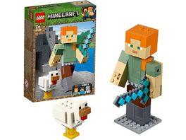 LEGO Minecraft 21149 Minecraft BigFig Alex mit Huhn