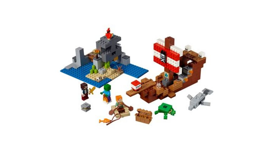 LEGO Minecraft 21152 Das Piratenschiff Abenteuer