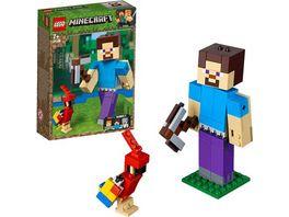 LEGO Minecraft 21148 Minecraft BigFig Steve mit Papagei