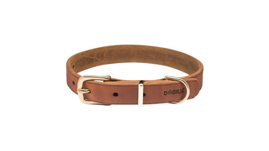 DOGIUS Hundehalsband Hermes hellbraun L