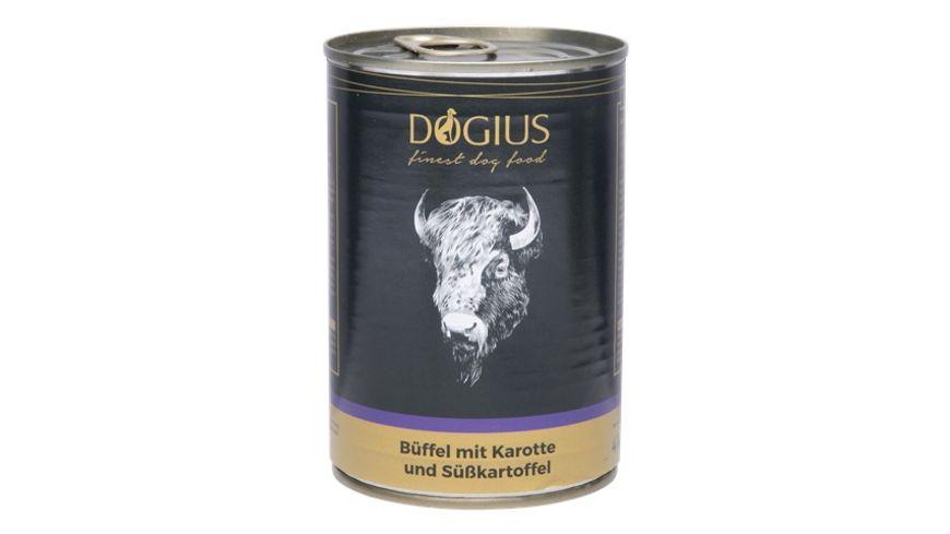 DOGIUS Nassfutter Bueffel mit Karotte und Suesskartoffel