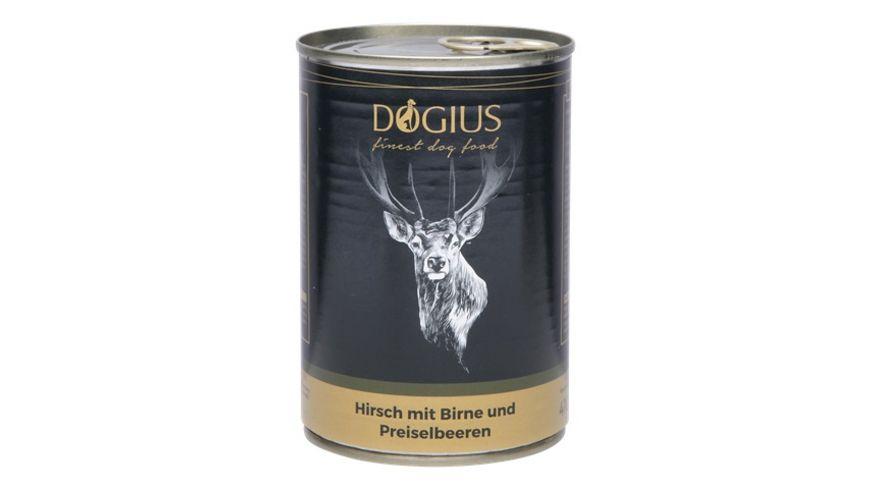 DOGIUS Nassfutter Hirsch mit Birne und Preiselbeere