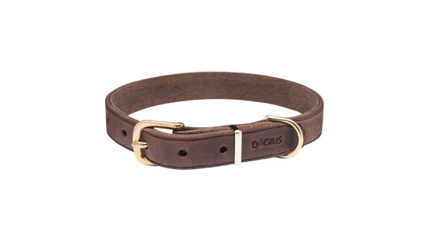 DOGIUS Hundehalsband Hermes dunkelbraun XL