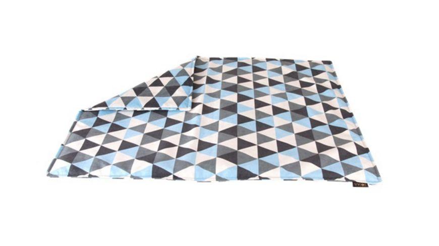 DOGIUS Hunde Kuscheldecke Dreieck blau