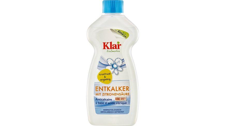 Klar Eco Sensitive Zitronensaeure Kalkloeser