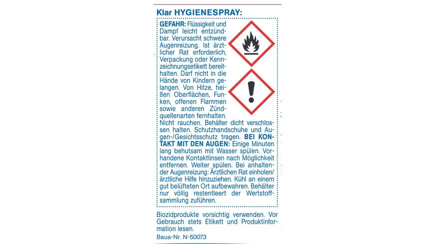 Klar Eco Sensitive Hygienespray