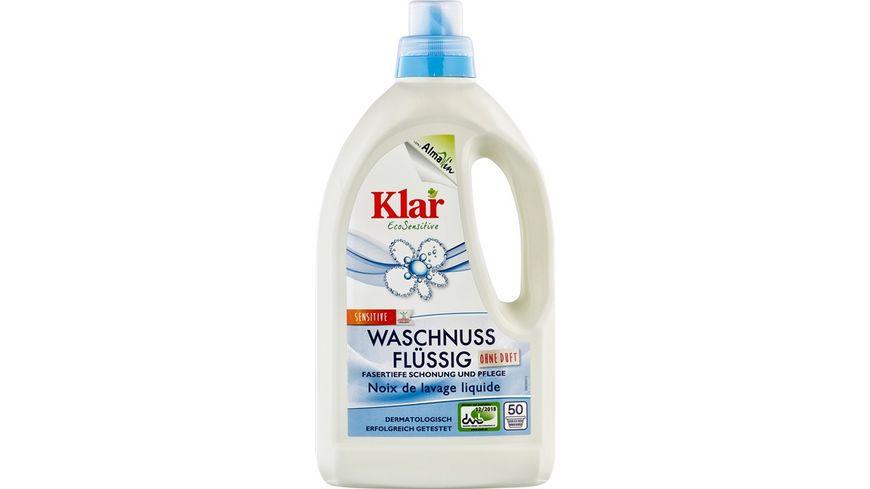 Klar Eco Sensitive Waschmittel Waschnuss Fluessig