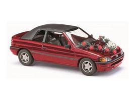 Busch 45732 Automodell Ford Escort Cabrio Hochzeit 1 87