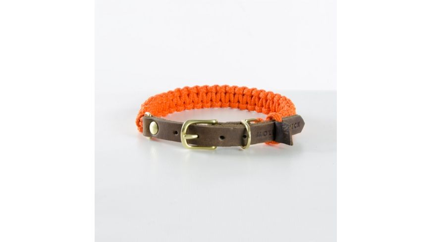 MOLLY STITCH Touch of Leather Halsband Pumpkin X Large