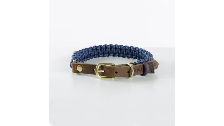 MOLLY STITCH Touch of Leather Halsband Navy XX Large