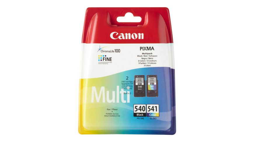 Canon Druckerpatrone PG-540 / CL-541 Multipack & schwarz