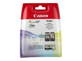 Canon Druckerpatrone PG 510 CL 511 Multipack schwarz