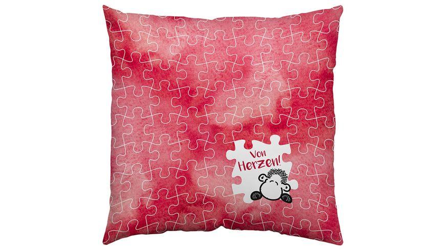 Sheepworld Herz Kissen Du und Ich 45328