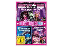 Monster High Mega Monsterparty 2 Monsterstarke Filme Wettrennen um das Schulwappen Monsterkrass verliebt
