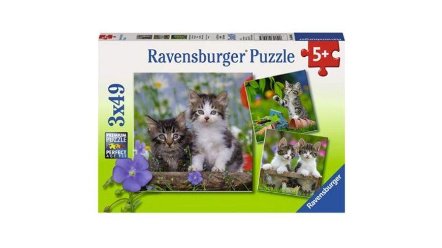 Ravensburger Puzzle Suesse Samtpfoetchen 3 x 49 Teile