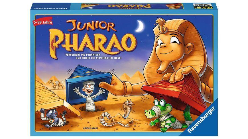 Ravensburger Spiel Junior Pharao Juniorausgabe des beliebten Brettspiels Der zerstreute Pharao ab 5 Jahren