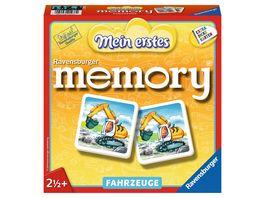 Ravensburger Spiel Mein erstes memory Fahrzeuge von Ravensburger ab 2 1 2 Jahre