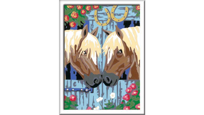 Ravensburger Beschaeftigung Malen nach Zahlen Treue Pferde
